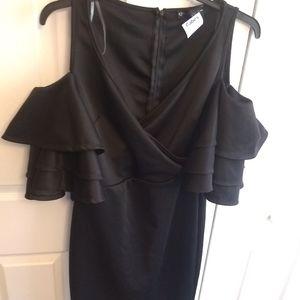 NWT Fashion To Figure Cold Shoulder Ruffle Dress